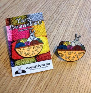 Eweniverse yarn basket pin