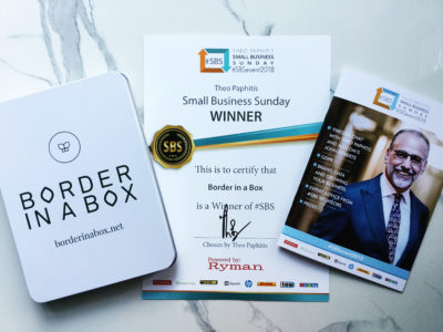 Theo Paphitis SBS Border in a Box award