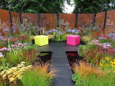 Charlie Bloom Colour Box show garden Hampton Court 2017