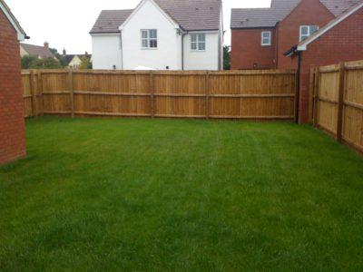 new build garden lawn