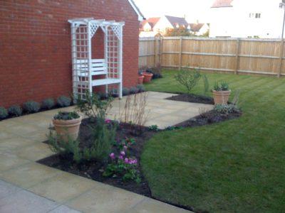 garden border just planted