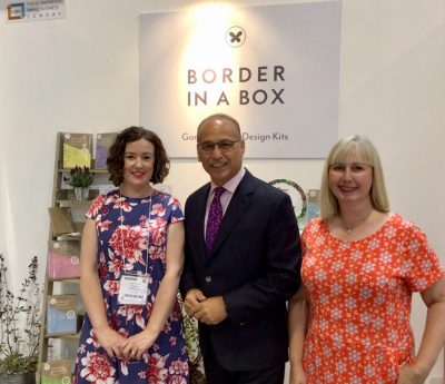 Nikki Hollier, Border in a Box, Theo Paphitis, #SBS, Autumn Fair, Nancy Poller