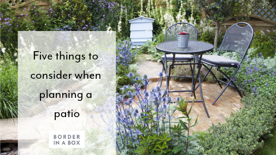 planning a patio paving