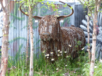 RHS Chelsea cow sculpture