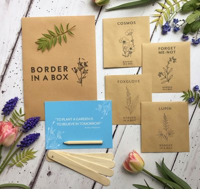 cottage garden seed pack Border in a Box