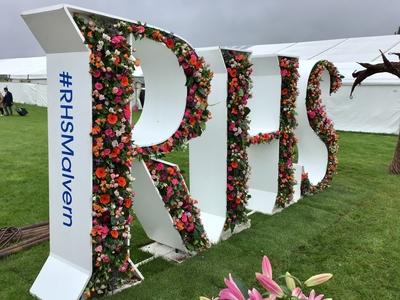 RHS Malvern floral sign
