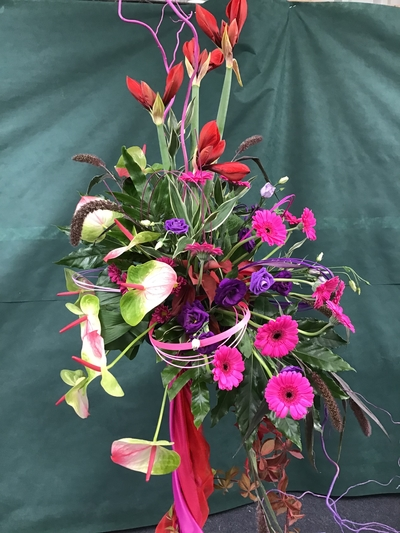 Floral art gerbera amyryllis