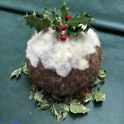 Floral Christmas Pudding