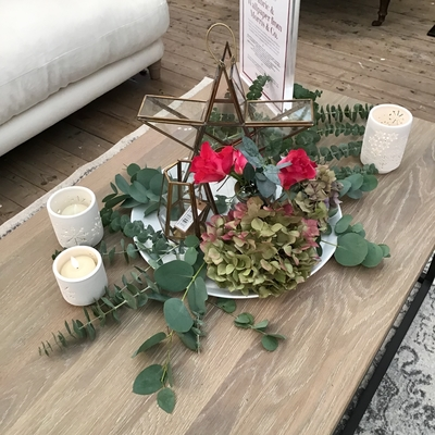 coffee table christmas country homes interiors