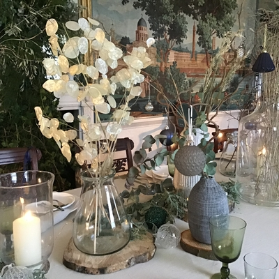 country homes interiors dining table christmas decorations