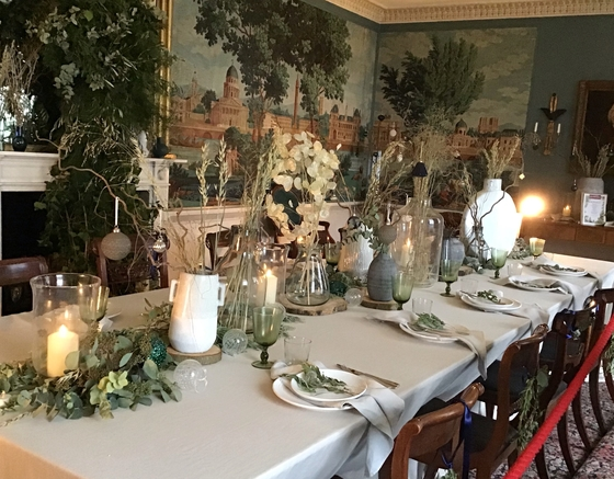 Stonor Park christmas dining table country homes interiors