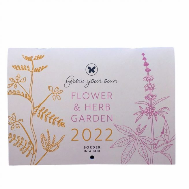 2022 calendar Border in a Box flower and herb