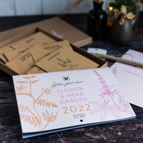 Border in a Box flower seed calendar 2022 A5 A4