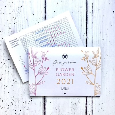 2021 grow your own flower calendar