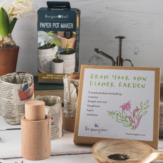 The Sowing Bee make your own pots seed kit
