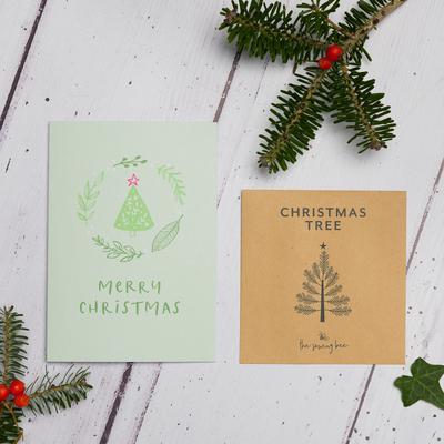 christmas tree seed card