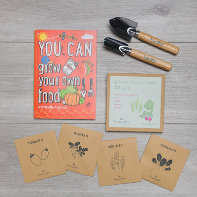 grow your own food book salad seed kit burgon and ball tools