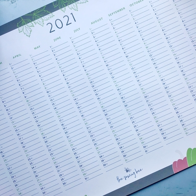 wall planner 2021 the sowing bee