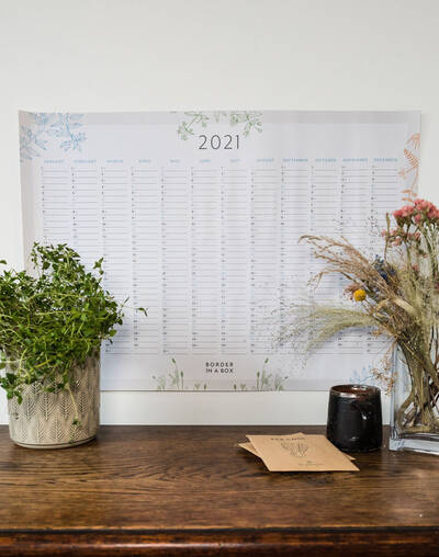 floral wall planner 2021